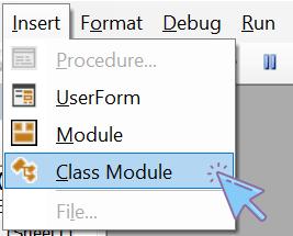 ایجاد ماژول کلاس در VBA